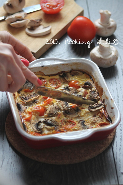 Clafoutis tomate champignon
