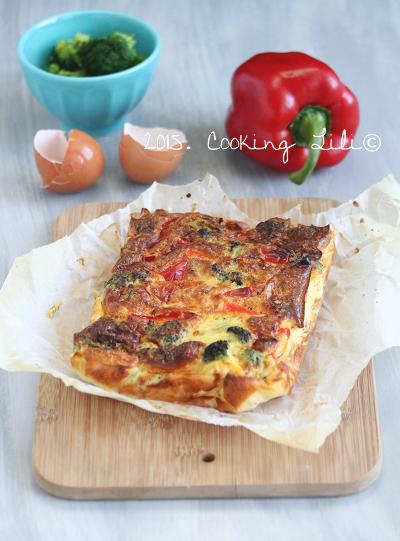 flan poivrons brocolis tomate