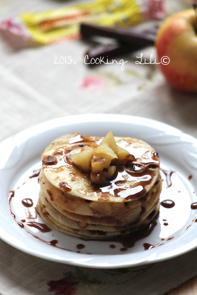 Gâteau de crêpes pommes & carambar 2