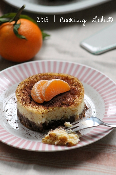 Cheesecake aux Clémentines Chocolat et Cottage Cheese