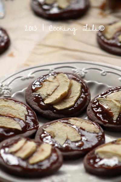 Mini tarte sablée Chocolat Pomme et Caramel