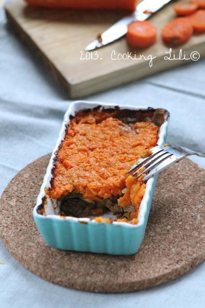 Hachis boeuf carotte