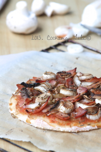 Pizza aux Endives et Bacon