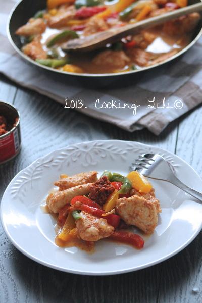Aiguillettes de Poulet au curry rouge