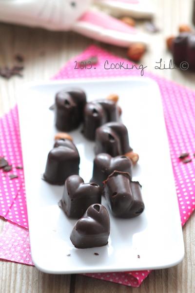 Chocolats maison Chocolat et noisettes