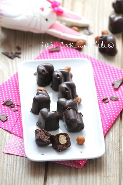 Chocolats maison Chocolat noisettes