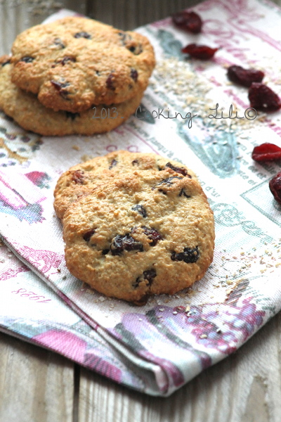 Cookies avoine cranberries