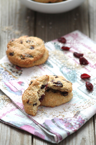 Cookies avoine et Cranberries