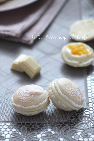 Macarons Chocolat blanc et Mangue
