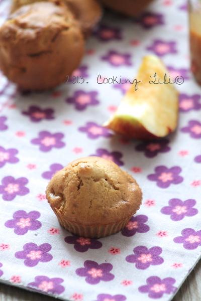 Muffins aux Pommes et Caramel beurre salé