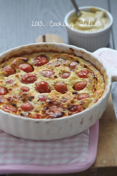 Clafoutis aux Tomates cerises et Moutarde