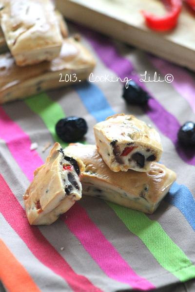 Mini cake aux Olives noires et Poivrons