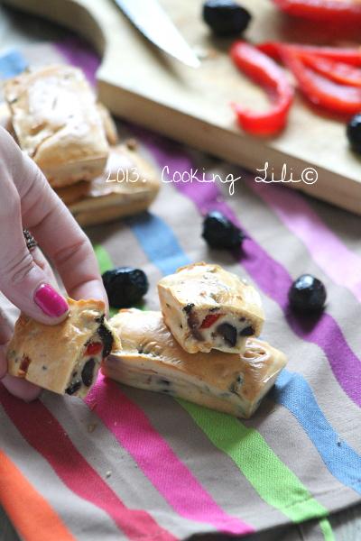Mini cakes aux Olives noires et Poivrons
