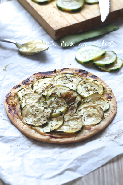 Tarte Courgettes et Moutarde