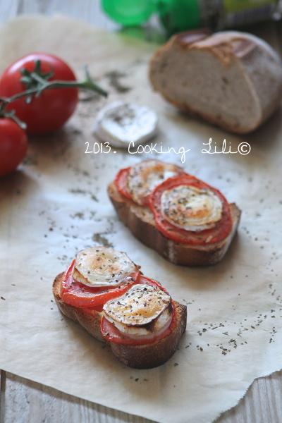 Brushetta Tomate, Chèvre et Basilic