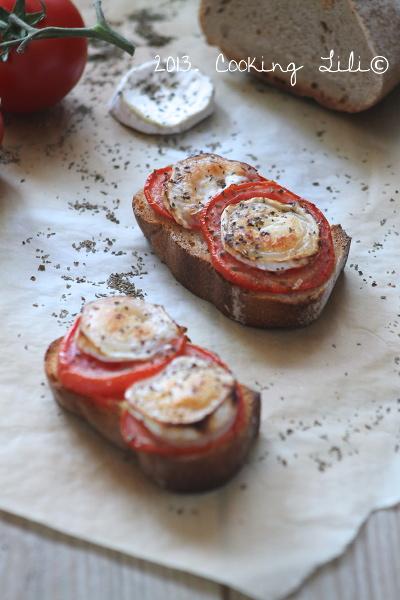 Brushetta Tomates, Chèvre et Basilic
