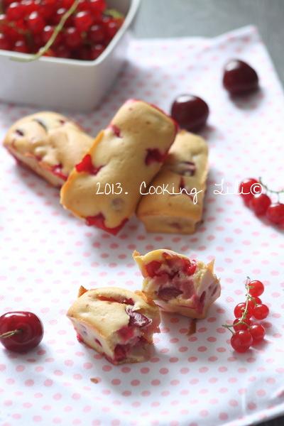Mini cakes Groseilles & Cerises