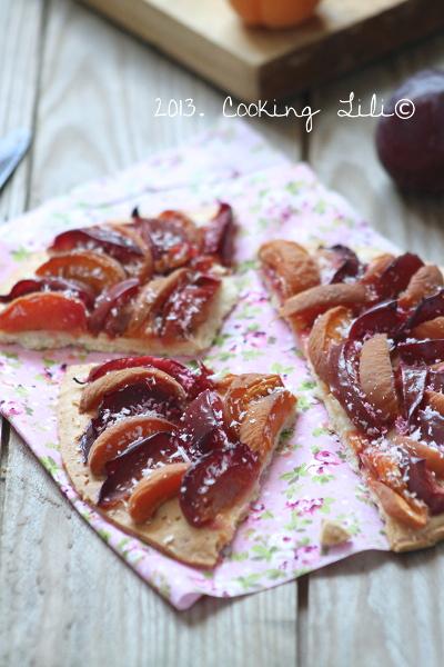 Tarte fine aux Prunes et Abricots