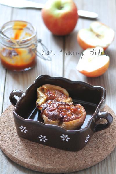 Pommes farcies au caramel au beurre salé