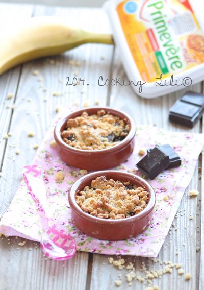 Crumble banane chocolat