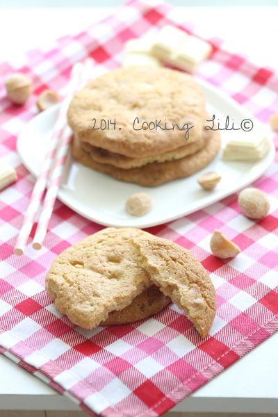 Cookies au chocolat blanc et noix de macadamia