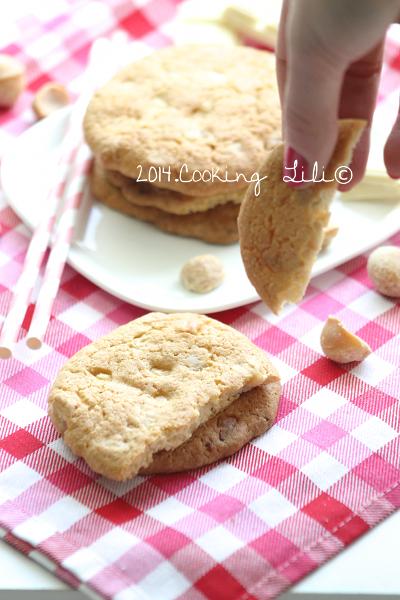 cooking lili cookies au chocolat blanc et noix de macadamia. Black Bedroom Furniture Sets. Home Design Ideas