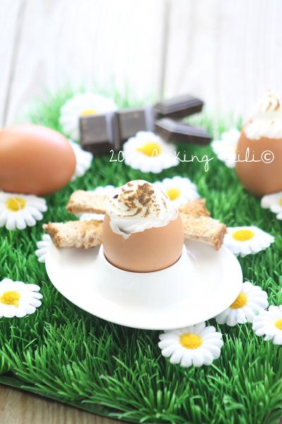 Oeuf au chocolat meringué
