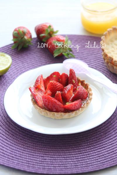 Tarte aux fraises citron vert et basilic