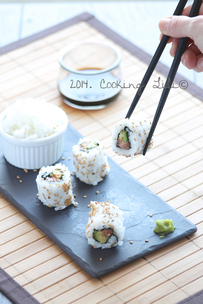California rolls saumon avocat