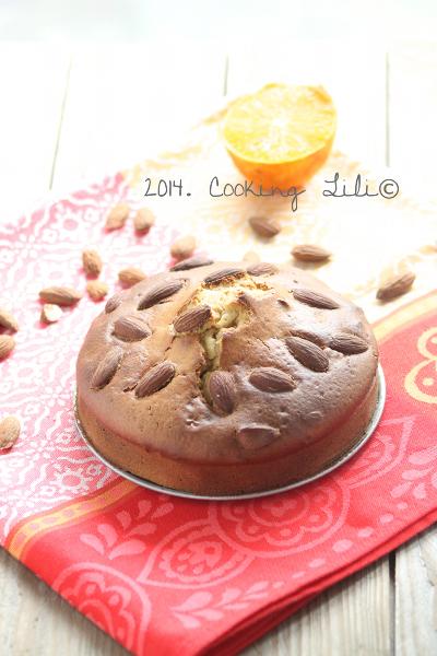 Gâteau Orange, fleur d'Oranger, amandes