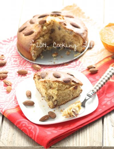 Gâteau orange fleur d'oranger amande