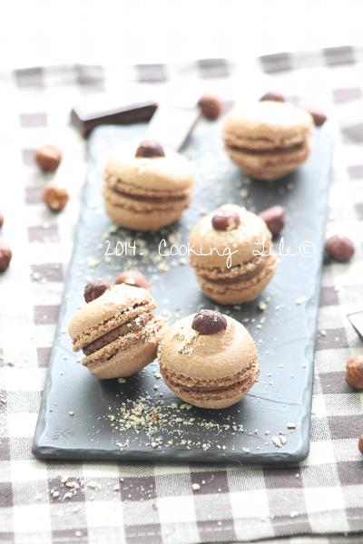 Macarons choco noisettes