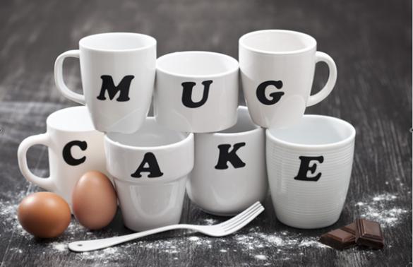Mug cake presentation