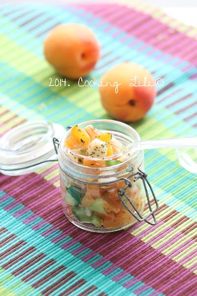 Tartare crevettes abricots