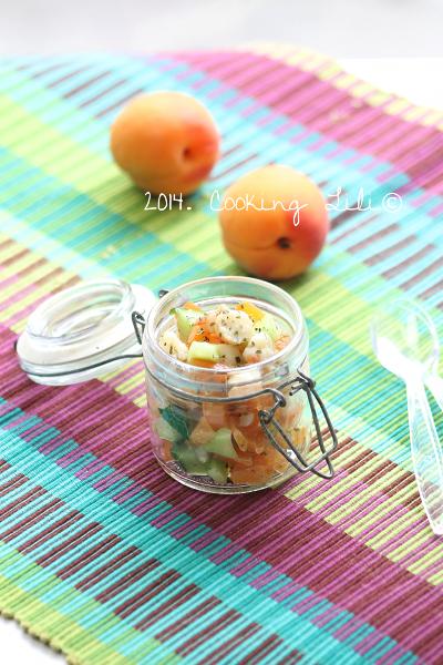 Tartare de crevettes abricots