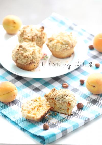 Cupcakes façon crumble aux abricots et noisettes
