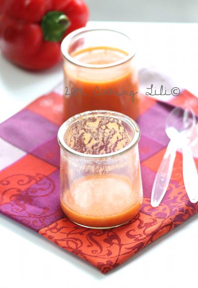 Gaspacho de poivrons rouge