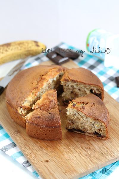 Gâteau au yaourt banane chocolat