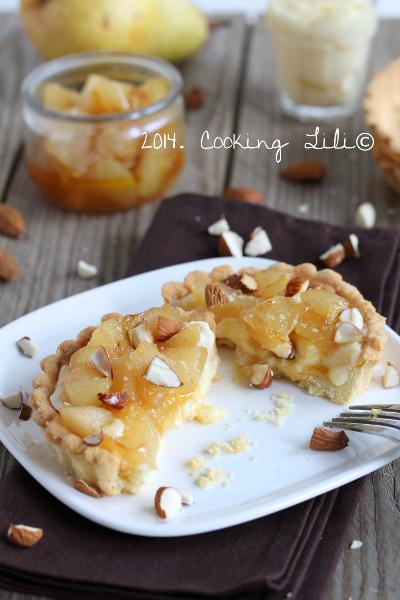 Tarte aux poires caramélisées et amandes