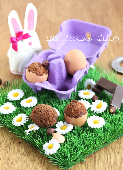 egg cake chocolat et noisettes