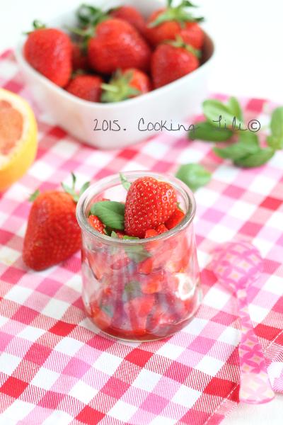 salade de fraises pamplemousse basilic