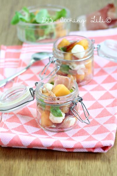 verrine jambon cru melon