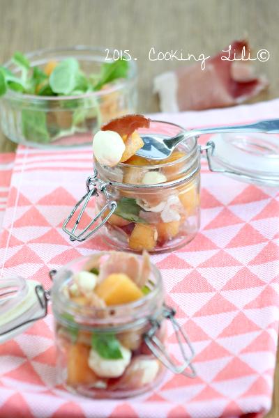 cooking lili verrines de melon jambon cru et mozzarella. Black Bedroom Furniture Sets. Home Design Ideas