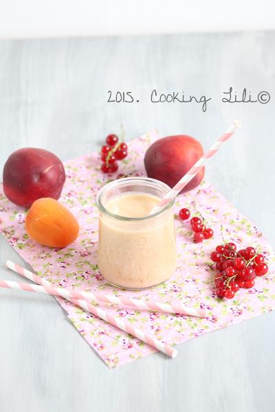 smoothie nectarines groseilles abricots