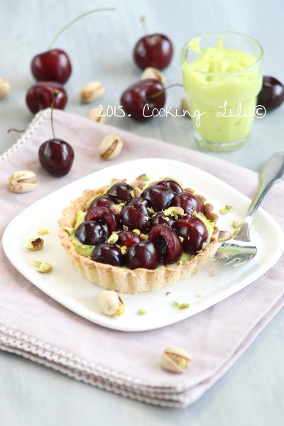 tarte cerises pistaches