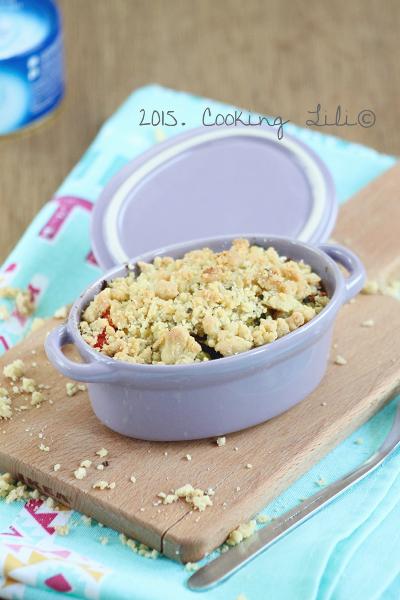 crumble courgettes poivrons thon