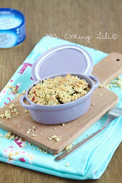 crumble poivrons courgettes thon