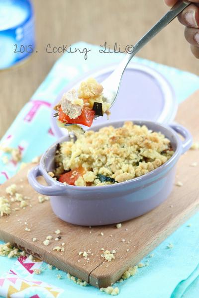 crumble thon courgettes poivrons