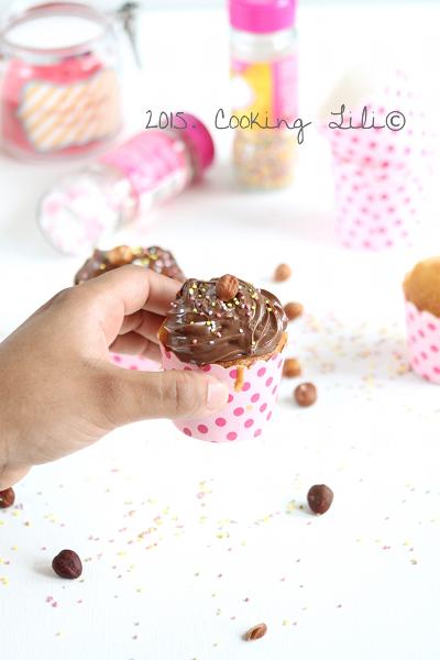 cupcakes au nutella et noisettes