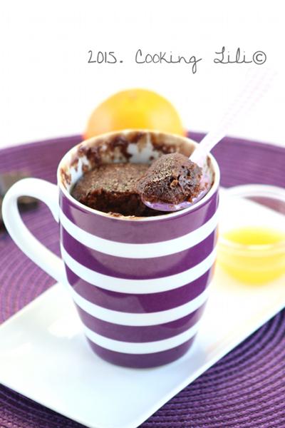 Mug cake choco clementine